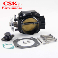 70mm Throttle Body + TPS Throttle Position Sensor Fits For Honda B16 B17 B18 Civic ACURA Integra SI CRX GSR Engine Black/Silver