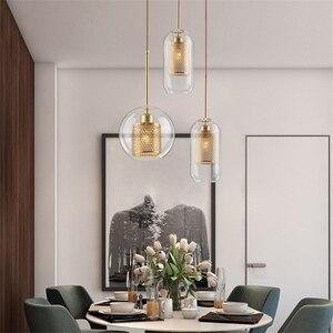 Image 5 - Lamp Glass Bulb Pendant Light Master Bedroom Luminaria De Teto Pendente Vintage Art Deco Vintage Industrial Pendant Nordic Loft