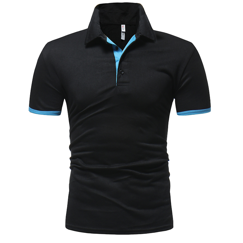 SKYYUE Brand New Slim Fit Casual Mens   Polo   Shirt Solid Color Short Sleeve Solid
