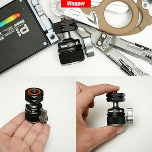 Image 5 - Vlogger モニターブラケットスタンド 360 ° 減衰サポート 90 ° 垂直モニターマウントホルダー 1/4 用ビデオライトマイクデジタル一眼レフ