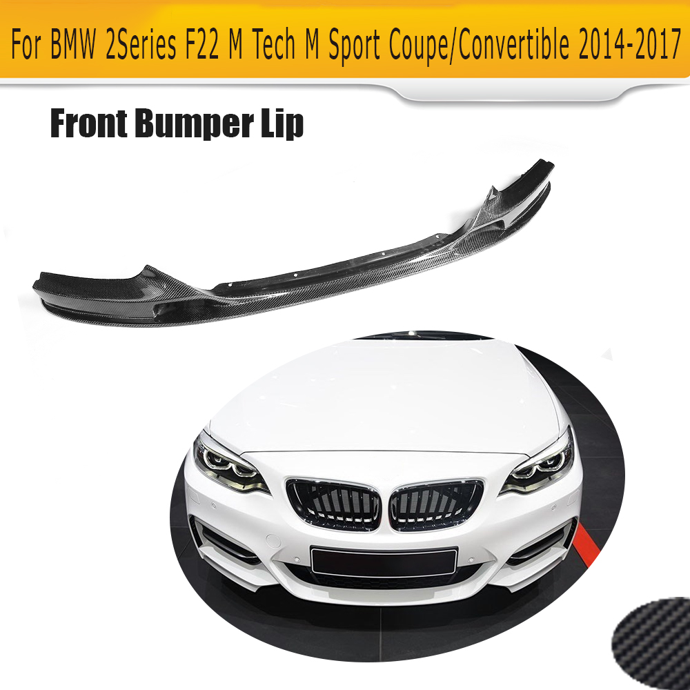 2 Serie Carbon Fiber Front Bumper Lip Spoiler Chin for BMW F22 M Sport Coupe Only 14-17 Convertible 220i 230i 235i Black FRP 2 series carbon fiber car front bumper lip spoiler for bmw f22 m sport coupe only 14 17 convertible 220i 230i 235i 228i p style