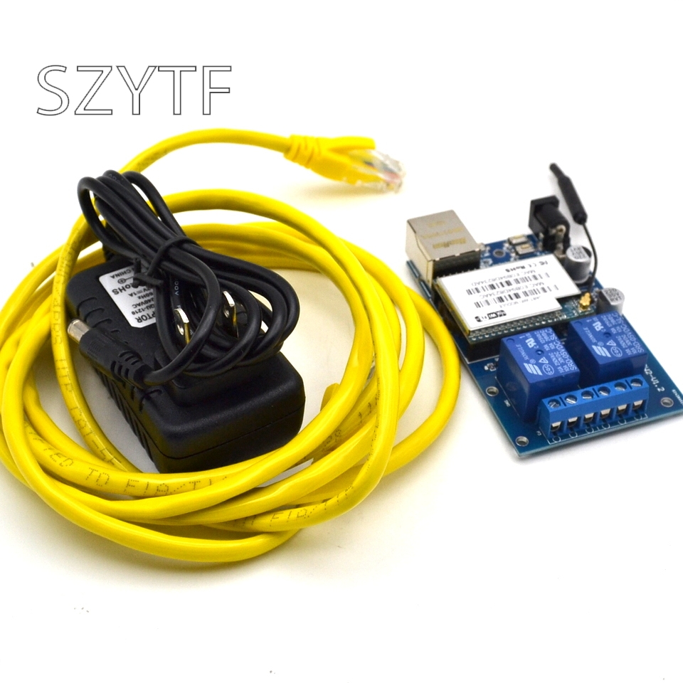 SZYTF-SW02 2-way network relay remote control APP wifi module P2P send source code lock point
