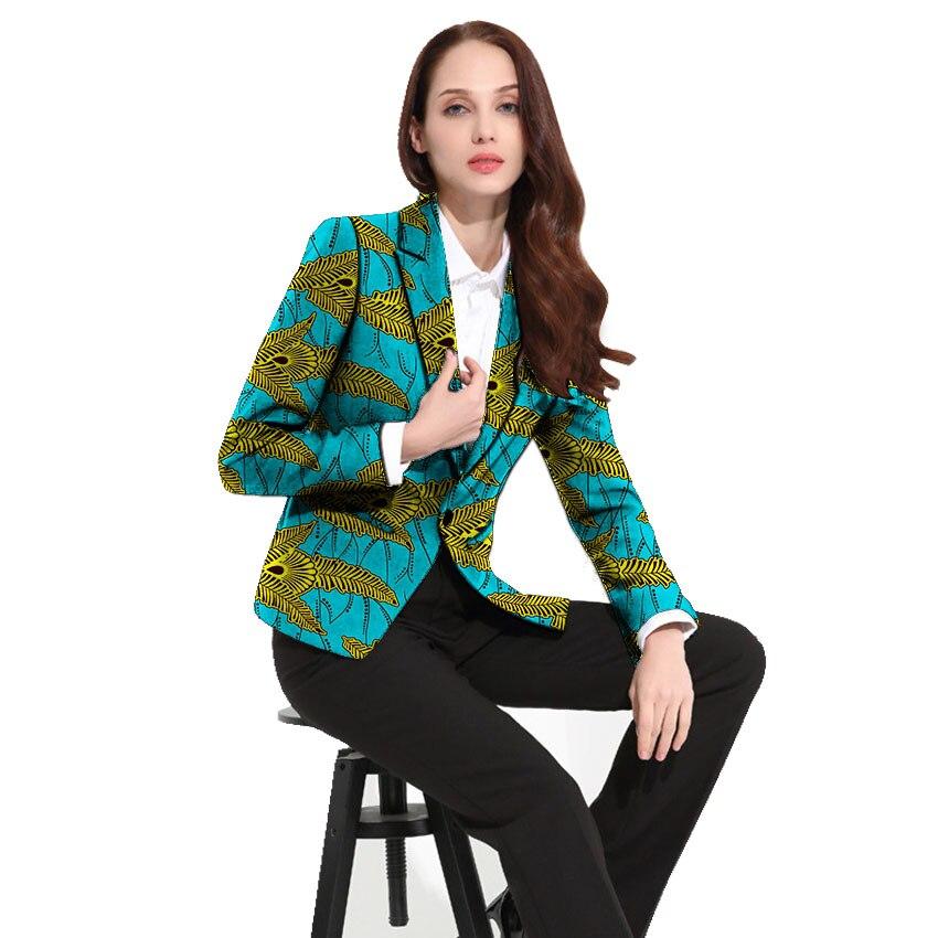 African Clothing Women's Print Blazers Slim Fit Ankara Fashion Suit Jackets Custom Made For Wedding Female Formal Jackets