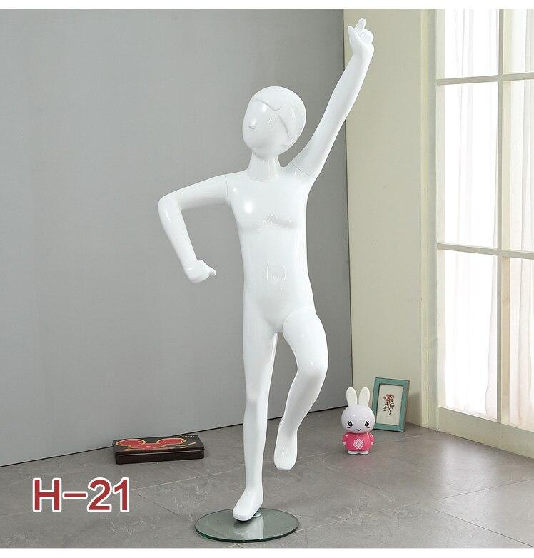vidro manequim criança corpo inteiro estilo elegante modelo criança na promoção