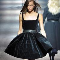 New Runway Dress High Quality Black Plus Size Women S S Velvet Ball Gown Dress