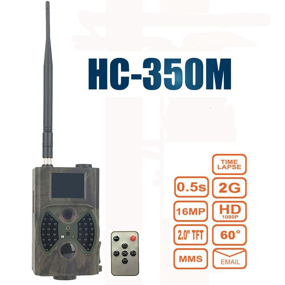 HC350M Hunting Camera 2G GPRS MMS SMTP SMS 16MP 1080P 100 Degrees PIR Sensor Sight Angle Wildlife Trail Camera HC-350M hc 550a scouting hunting camera hc550a hd 1080p 16mp 120 degrees angle pir sensor sight photo trap wildlife cam
