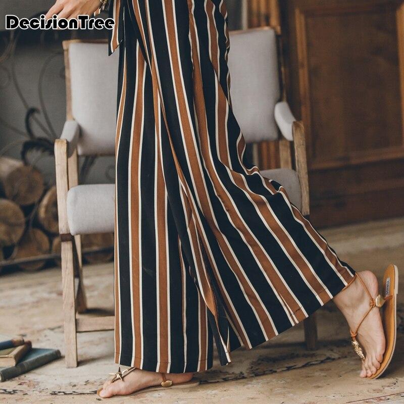 Casual Negro Longitud La 2019 Nuevo Tobillo Del Alta Cintura De Suelto Ancha Chiffon Coreano Sólido Pierna Pantalón Pantalones Encuentro Azul wzawCFq