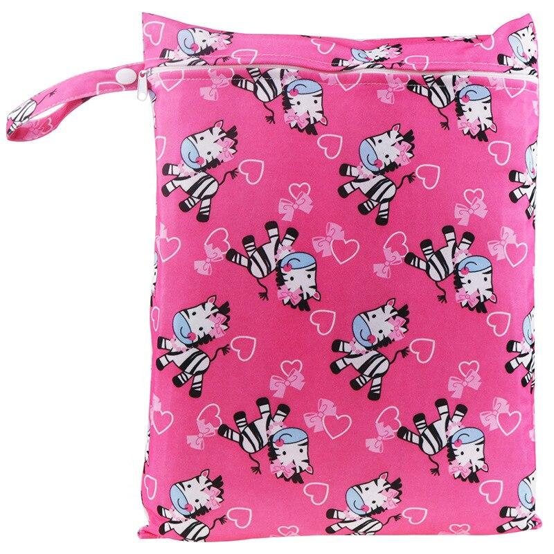 Baby Reusable Cloth Diaper Bag Waterproof Printed Nursing Pad Menstrual Pads Stroller Luiertas Bez Wet Bags 30*40cm & 15*20cm
