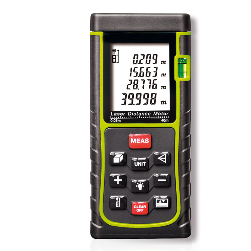 Digital Laser distance meter with air bubble level Rangefinder Range finder Tape measurer 0.05mm-40m/50m/60/70m/80m/100m  цены