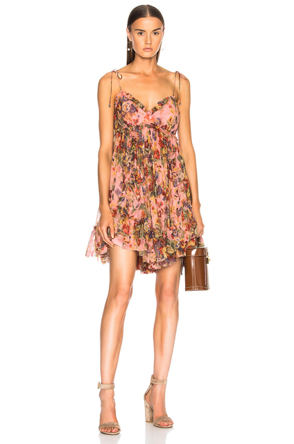 New Summer One Piece Mini Women Printed Flower Dress by Amber Smile