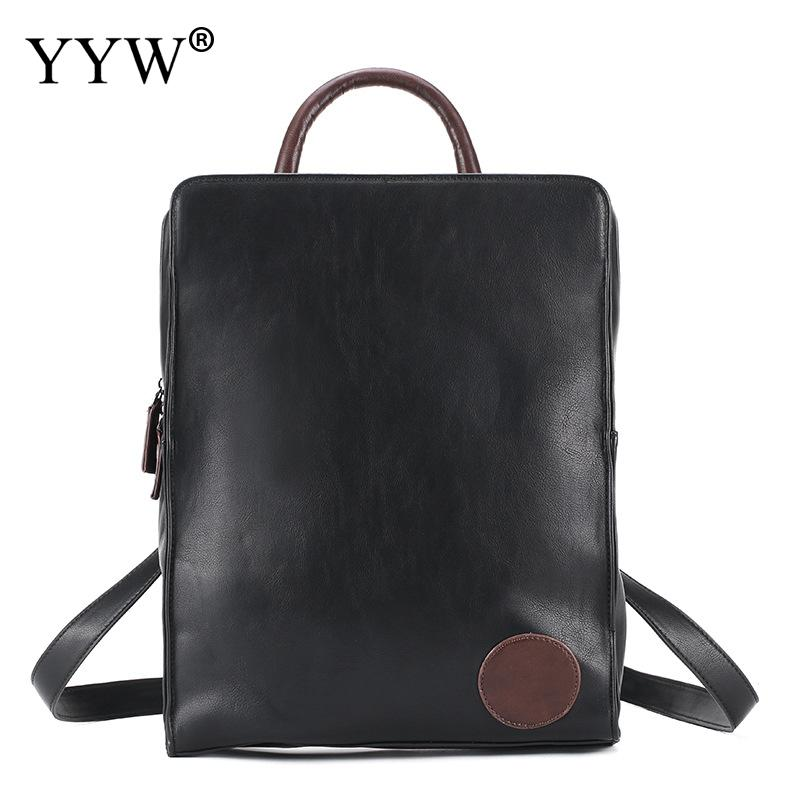Brands Black Business Mens Backpack PU Leather Backpack for Male High Quality 2018 Travel School Bag Multifunction Tote BagBrands Black Business Mens Backpack PU Leather Backpack for Male High Quality 2018 Travel School Bag Multifunction Tote Bag