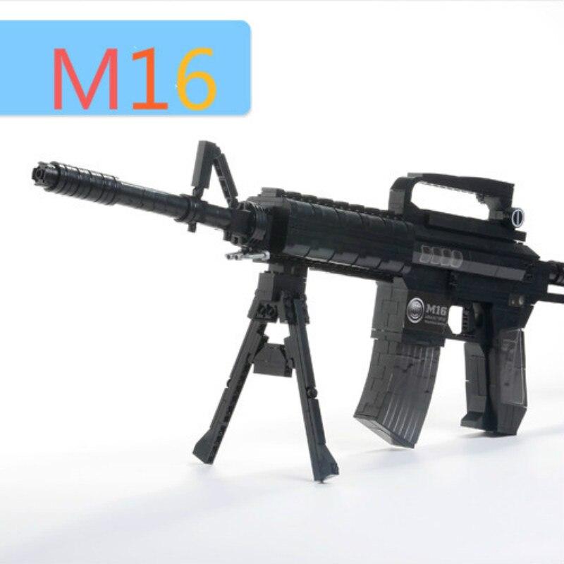 Ausini Buliding Blocks M16 Guns Model Building Toys Bricks Gun Series Children's Educational Toy Gift