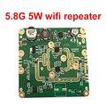 5.8G 5 W 5.8 GHZ 5 W wifi amplificador de señal inalámbrica amplificador de señal de banda ancha amplificador de señal extensor router PCBA más fuerte repetidor