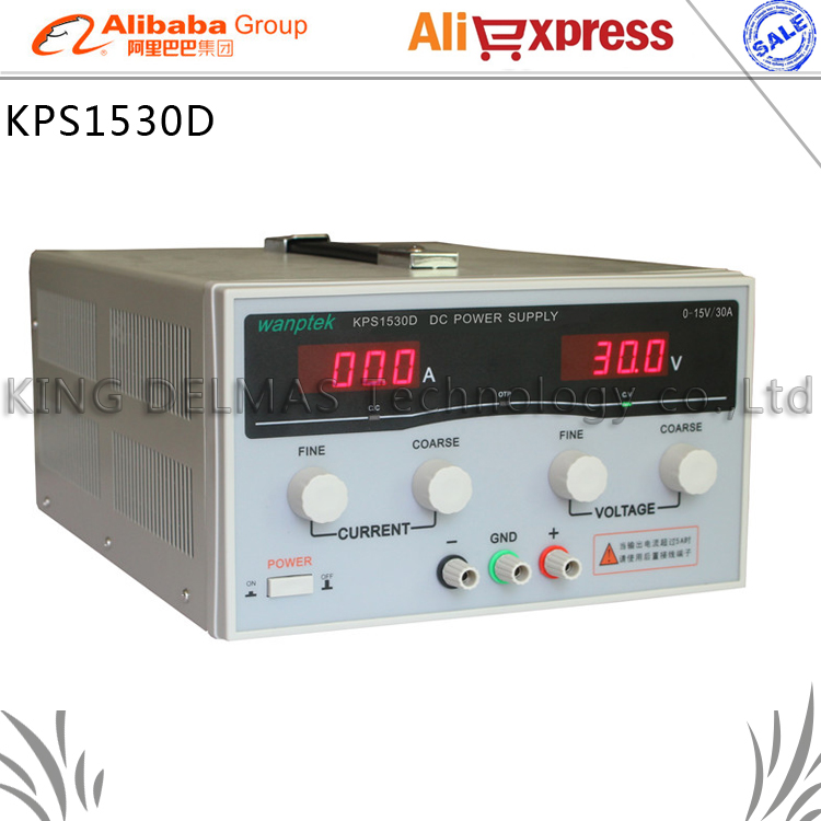 KPS1530D High precision High Power Adjustable LED Display Switching DC power supply 220V 0-15V/0-30A For Laboratory and teaching kuaiqu high precision adjustable digital dc power supply 60v 5a for for mobile phone repair laboratory equipment maintenance