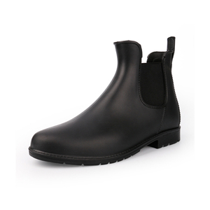 Image 1 - אישה גשם מגפי 2019 אביב סתיו עמיד למים קרסול אתחול לנשים נעליים נמוך העקב גשם מגפי החלקה גבירותיי נעליים בתוספת גודל 43