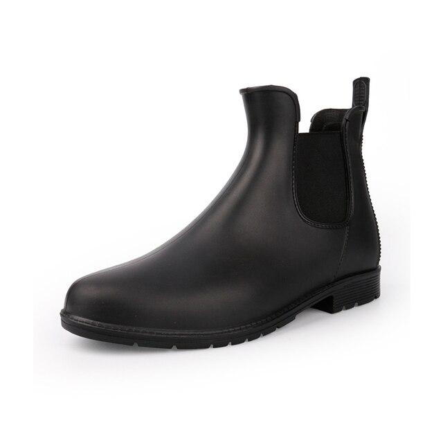 אישה גשם מגפי 2019 אביב סתיו עמיד למים קרסול אתחול לנשים נעליים נמוך העקב גשם מגפי החלקה גבירותיי נעליים בתוספת גודל 43