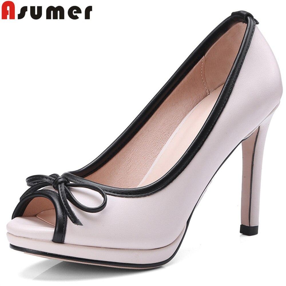 ASUMER big size 34 43 fahsion 2020 spring autumn new arrive shoes woman shallow elegant pumps