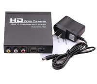 HDMI TO CVBS AV/HDMI AUTO SCALER Support NTSC PAL Two TV Format, HD Video Converter for TV,VHS, VCR,DVD Recorders