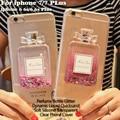 Frasco de perfume glitter estrelas dinâmico líquido areia movediça transparente tpu phone case para iphone 7 6 6 s plus 5S se samsung s7 edge