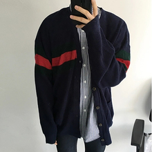 Spring Korean Sweater Men Elegant Hombre Sport Winter Pullover Thick Knitwear Casual Autumn Cardigan Roupas Sweater Coat 50MY042