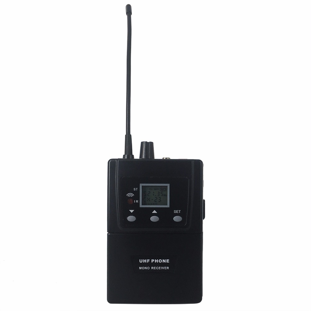 Retekess T127 RF Wireless Conference System Simultaneous Interpretation Bodypack Waist-mounted Audio Receiver for Meeting high end uhf 8x50 channel goose neck desk wireless conference microphones system for meeting room