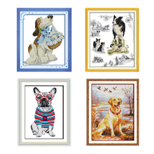 NKF Cross Stitch Kits Printed Fabric DMC 11CT 14CT Animal Ecological Cotton Painting DIY Handmade Needle Work Home Decor