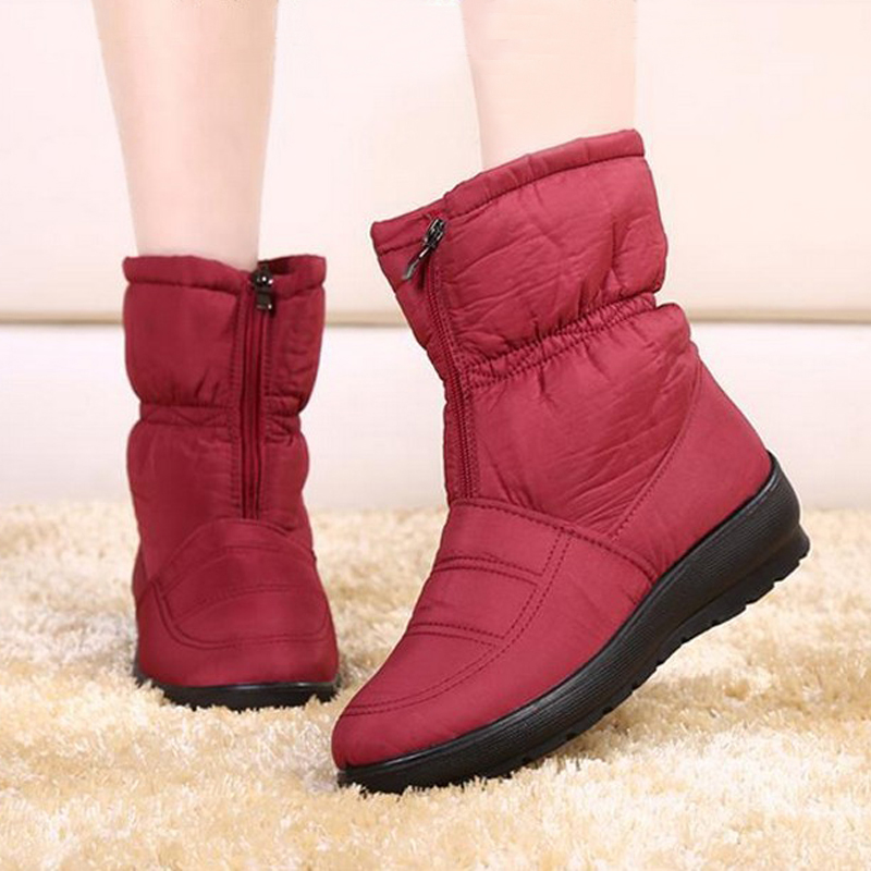 2015 new autumn winter casual snow boots waterproof font b women b font boots thermal flat