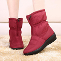 2015 new autumn winter casual snow boots waterproof women  boots thermal flat slip-resistant fashion winter shoes woman