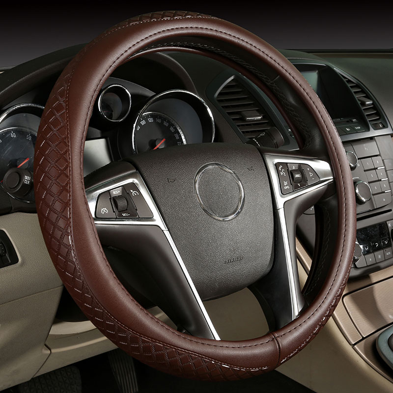 car steering wheels cover genuine leather accessories for Kia Amanti Borrego Optima Rio Rondo Sedona Sephia