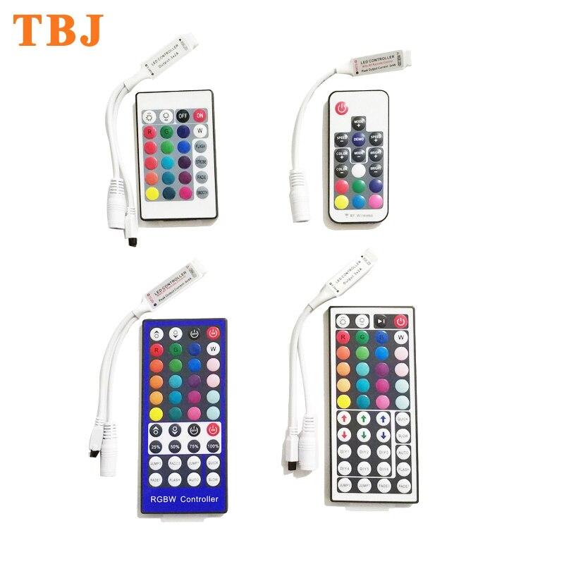 17244044 Key Mini  IR RF Remote Controller Dimmer for RGB RGBW LED Strip Light