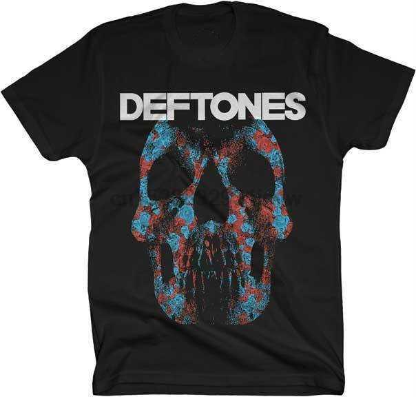 Deftones Minerva розовая футболка с черепом Dendy