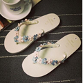 Женские летние тапочки милые сандалии оригинальные сандалии флип-флоп дамы пляжная обувь сад мода цветок сандалии квартиры