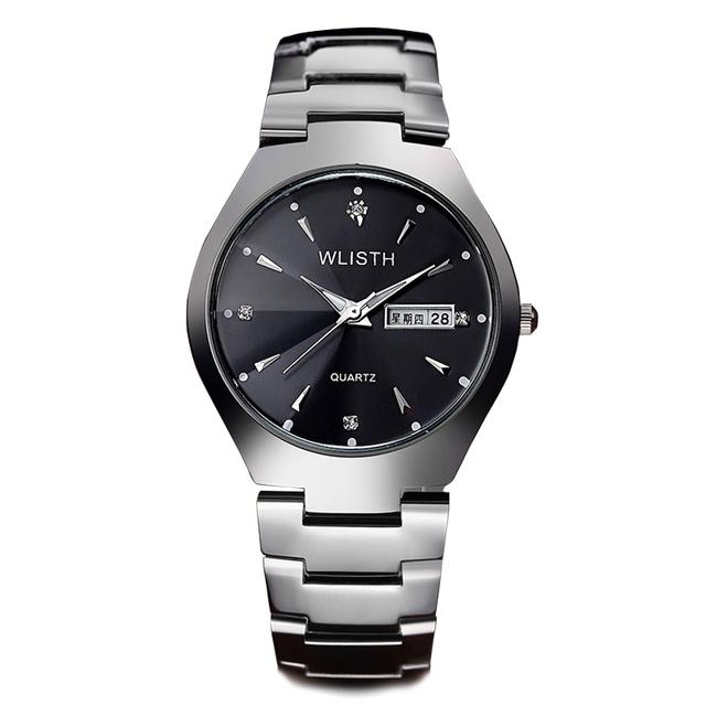 2016 WLISTH Relógio Dos Homens da Banda de Aço Moda Relógios de Pulso das mulheres Dos Homens do relógio de Pulso Dos Amantes Casal Luminous Assista Relojes Montre