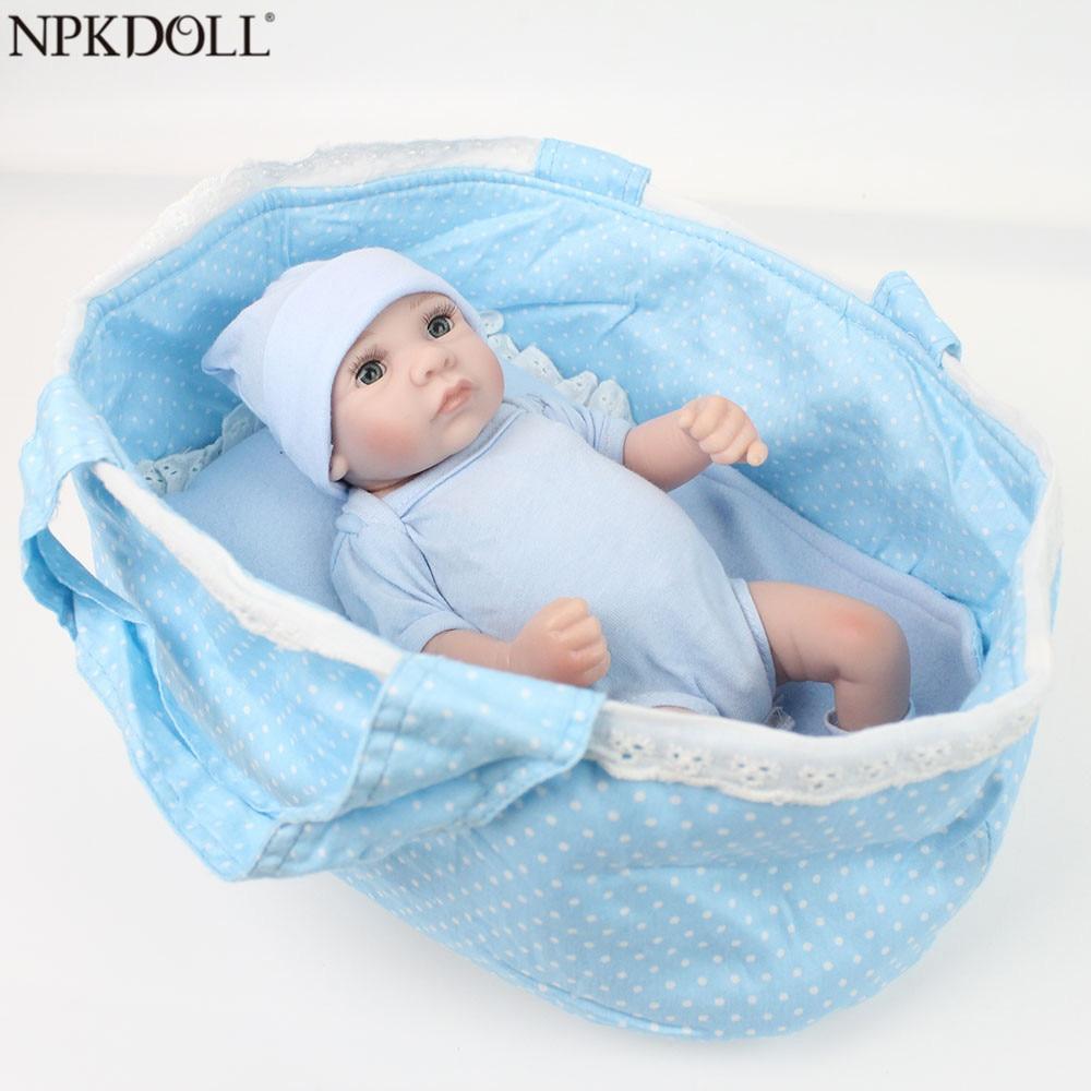 NPKDOLL 10 zoll Handgemachte Bebe Reborn Corpo De Silikon Boneca Spielzeug für Mädchen 28 cm Dropshipping Kinder Geschenk Bebe Reborn