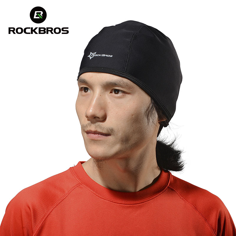 ROCKBROS Thermal Winter Cap Outdoor Sports Hiking Skiing Ridding Bike Cycling Hat Helmet Headband Liner Windproof Snow Cap winter outdoor sports knitted ski hat cycling cap hiking riding hat windproof thermal fleece warm earmuffs snow cap men women