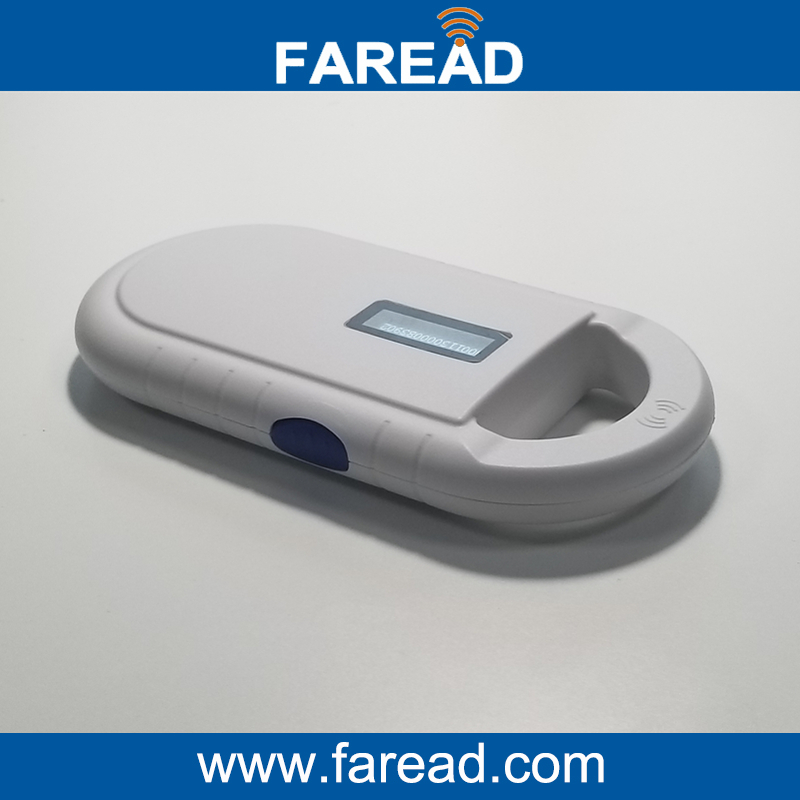 Free shipping NEW ISO11784/5 134.2KHz FDX-B Pet Microchip Portable small Scanner,Animal RFID Tag Reader,LF Handheld RFID Reader rfid 134 2khz fdx b id64 iso chip animal handheld reader horse chip scanner