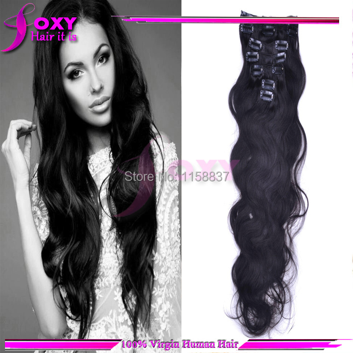 Foxy hair products100 percent virgin brazilian body wavy clip in foxy hair products100 percent virgin brazilian body wavy clip in human hair extensions 24 26 28 inch 100g for fashion woman on aliexpress alibaba pmusecretfo Image collections