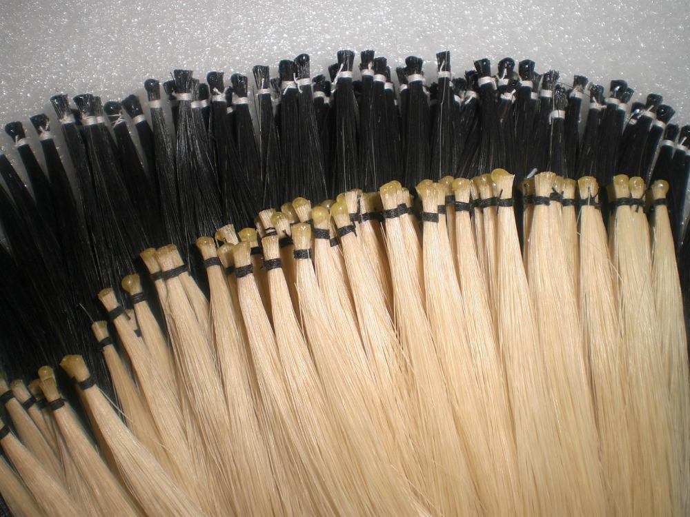 ФОТО 20 Hank white bow hair with 20 hanks black bow hair all 6 grams/hank in 32 inches