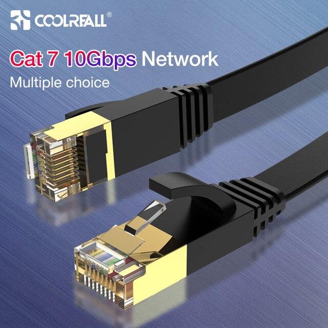 Cable Lan Coolreall, cable RJ45 cat 7, Cable rj 45 de red Ethernet Compatible con Cat6, Cable de parche para portátil, Cable de enrutador