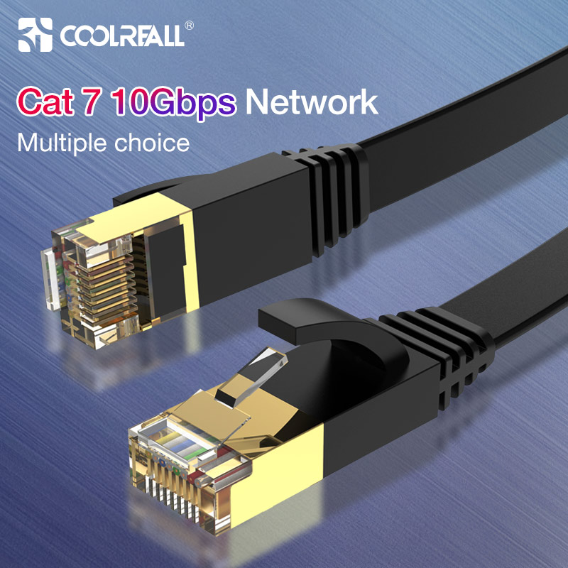 Coolreall Lan Cable RJ45 Cat 7 Cable Rj 45 Ethernet Network Cable For Cat6 Compatible Patch Cord For Laptop Router  Cable