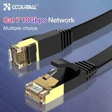 Coolreall كابل شبكة محلية RJ45 القط 7 كابل rj 45 كابل شبكة إيثرنت ل Cat6 متوافق التصحيح الحبل لأجهزة الكمبيوتر المحمول راوتر كابل