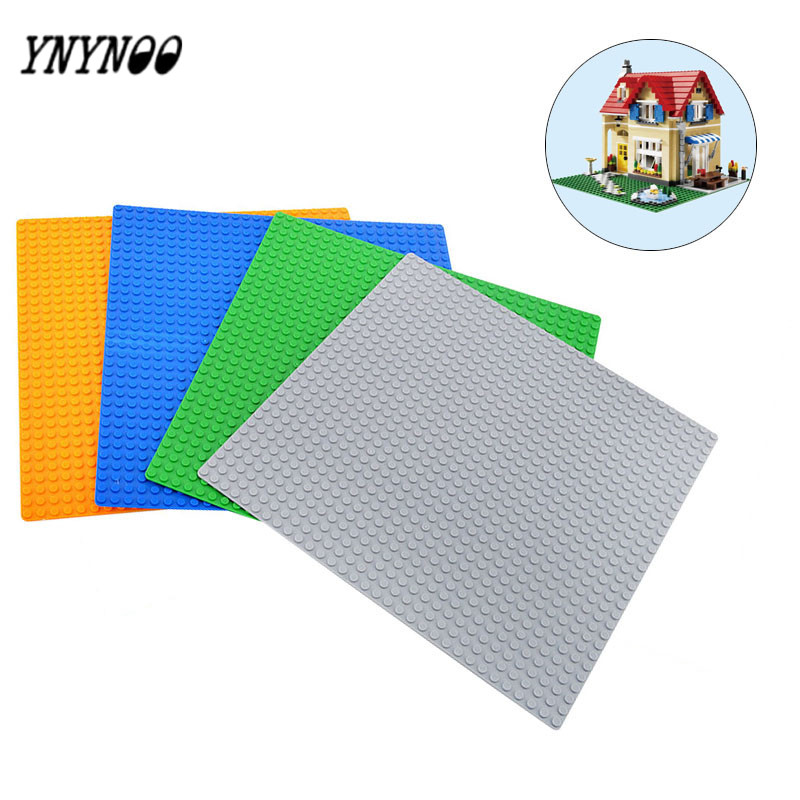 YNYNOO New 32*32 Dots Not Easy to break Dots Small Blocks Base Plate Building Blocks DIY Baseplate Compatible Major Brand Blocks new big size 40 40cm blocks diy baseplate 50 50 dots diy small bricks building blocks base plate green grey blue