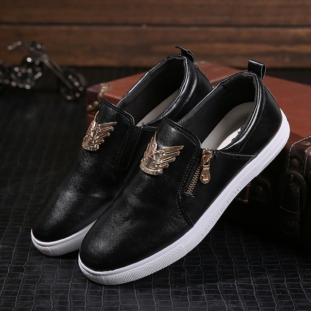 New spring tide men's loafers driving shoes Korean version of casual white shoes Peas shoe foot men's shoes men