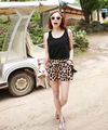 50pcs/lot fedex fast free shipping summer fashion new sexy ladies chiffon shorts women sexy leopard printed hot shorts
