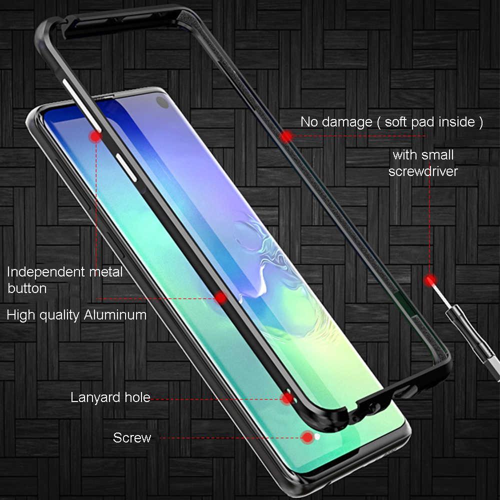 Изогнутый металлический бампер Luphie для samsung Galaxy S10 S10 Plus, противоударный чехол, ультра тонкий алюминиевый бампер, рамка для samsung S10e