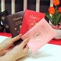 2016 Nova Moda Capa de Passaporte Documentos Saco Utilitário Couro PU Bolsa de Viagem portador de Passaporte Pacote de Cartões de ID de Caso para Os Homens mulheres