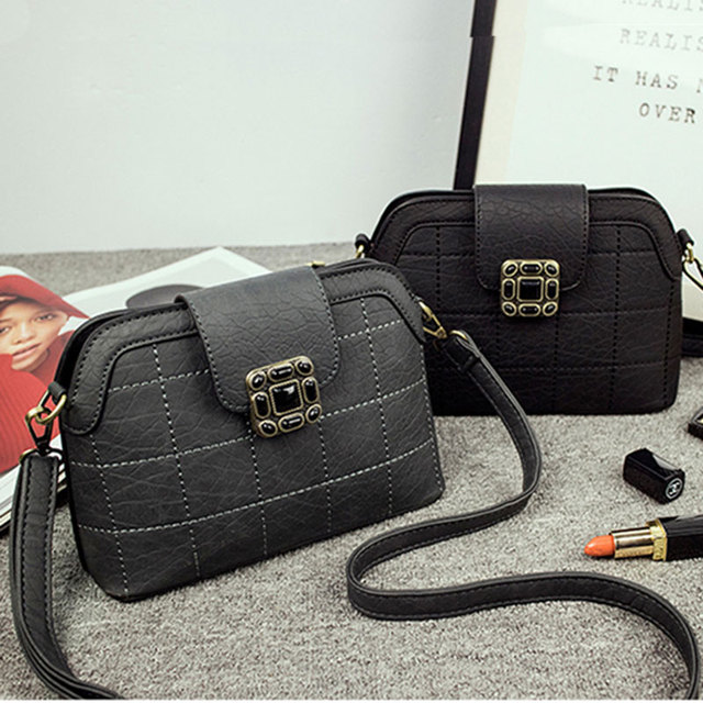 2016 new small real diamond chain bag fashionista plum lock bag all-match Crossbody Bag shoulder bags