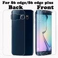 2 unids/lote front + back protector de pantalla 2.5d vidrio templado cubierta completa para samsung galaxy s6 edge plus/s6 edge película protectora
