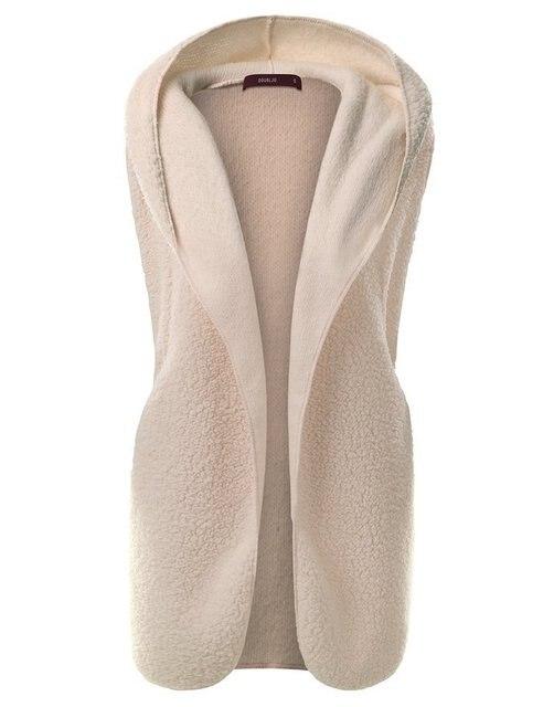 Winter Cotton Fleece Hooded Down Vest Coat Women Sleeveless Warm 8 Colors Plus Size 3XL Solid Cardigan Short Jacket Parka gilet