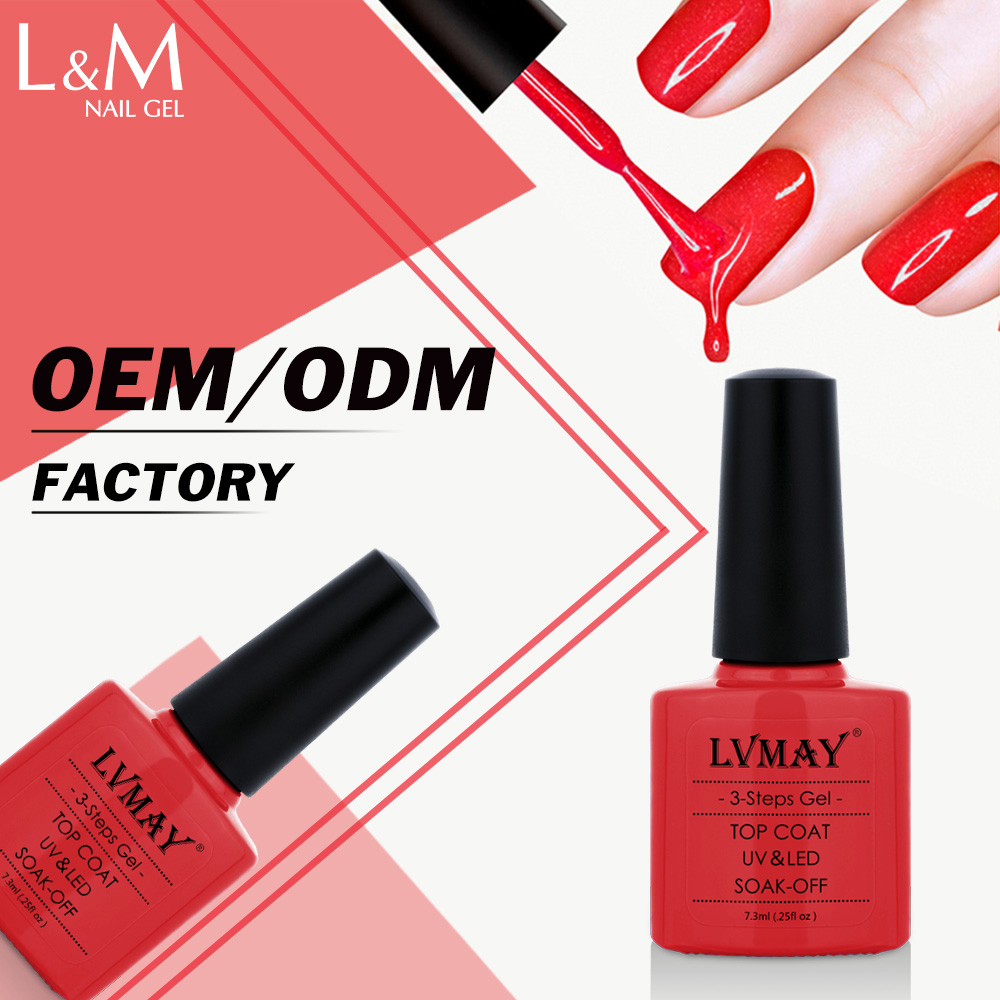 Us 6 57 27 Off 3 Pcs Lvmay Brands Uv Red Pink Nude Color Gel Nails Polish Top Base Coat Artistic Cheap Best Home Nail Glue Kit Soak Off In Nail Gel